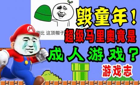 【游戏志】毁童年!超级马里奥竟是成人游戏?