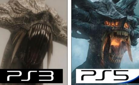 《恶魔之魂:重制版》与PS3原版画面对比视频