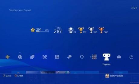 PlayStation奖杯等级系统上限提升至999