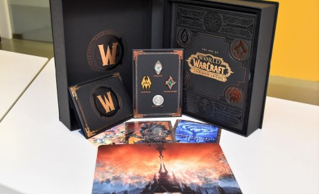 《魔兽世界:暗影之境》实体典藏版样貌抢先看 用誓盟符印别针宣示你的道路