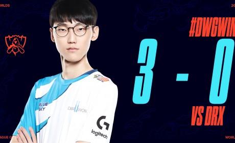 《英雄联盟》八强淘汰赛韩国内战 DWG以直落三横扫DRX挺进四强