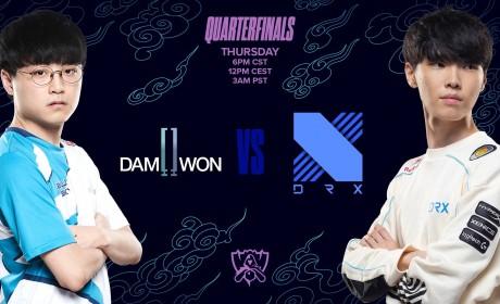 《英雄联盟》世界大赛八强对决今晚起一连四天登场 首场韩国内战DWG对DRX