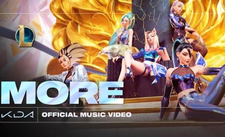 《英雄联盟》虚拟团体K/DA 最新单曲《More》MV 正式曝光新英雄瑟菈纷曲尾独唱