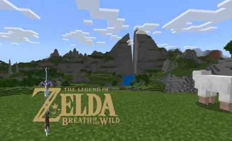 玩家利用《我的世界》重现《萨尔达传说旷野之息》地图