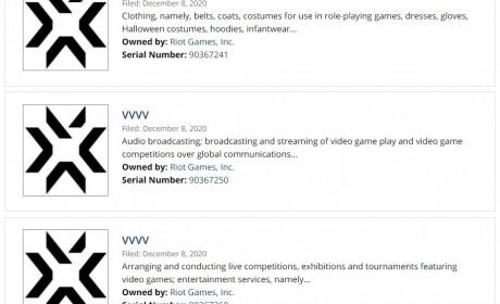 有新游戏?!Riot Games 注册闪电样式「L」与「VVVV」商标