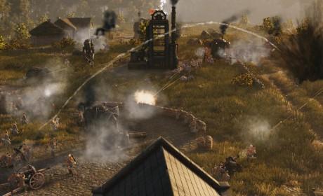 蒸汽朋克RTS《钢铁收割》新演示 钢铁巨兽奋力厮杀