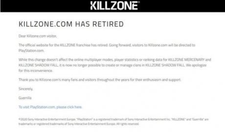《杀戮地带》官网将关闭 排行榜数据不受影响