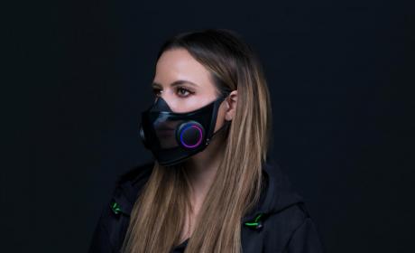 雷蛇推出了一款自带1600万种RGB灯效的N95口罩
