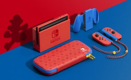 「Nintendo Switch 玛利欧亮丽红X 亮丽蓝主机组合」即将发售!随附特别设计便携包