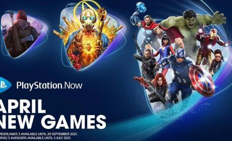 PS NOW四月新增游戏公布 《漫威复仇者联盟》、《无主之地3》等