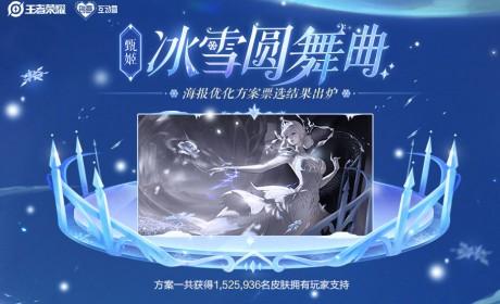 王者荣耀甄姬-冰雪圆舞曲优化海报方案票选结果公布